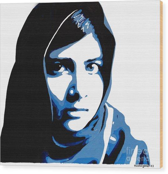Malala Yousafzai On Friday Wood Print