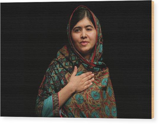 Malala Yousafzai Wins Nobel Peace Prize Wood Print by Christopher Furlong