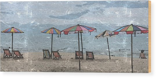 Malazy Day At The Beach Wood Print