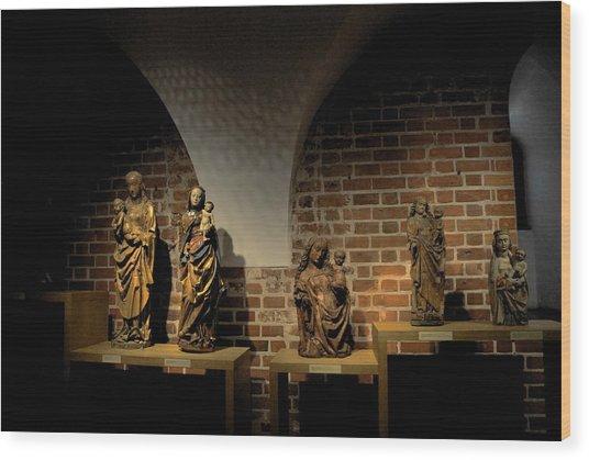 Malbork Castle Museum Wood Print by Jacqueline M Lewis