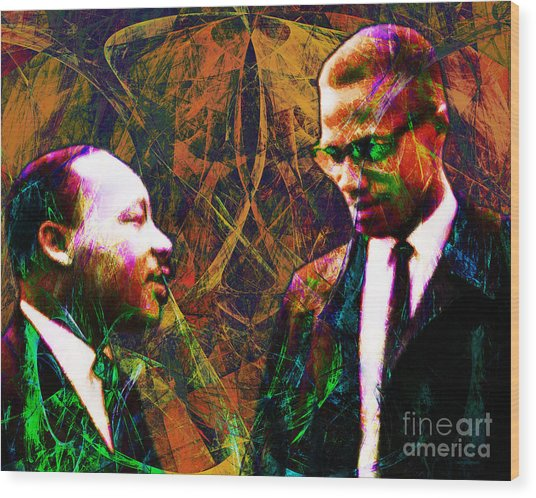 Malcolm And The King 20140205 Wood Print by Wingsdomain Art and Photography
