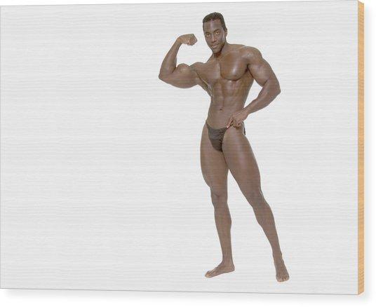 Male Bodybuilder Wood Print