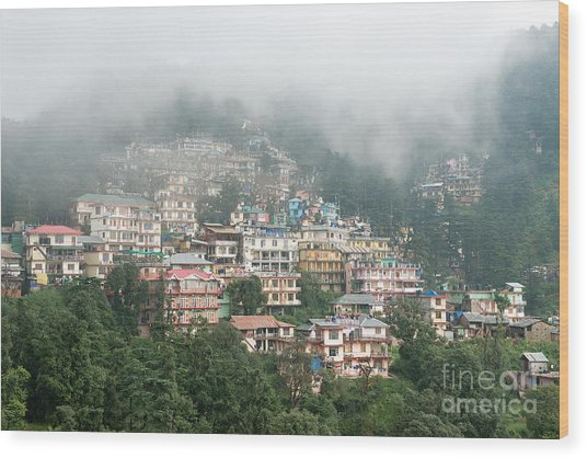 Maleod Ganj Of Dharamsala Wood Print