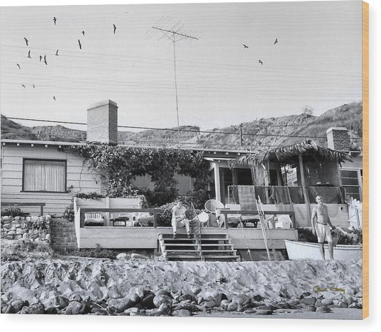 Malibu Beach House - 1960 Wood Print