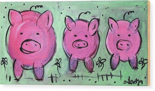 Mama Pig Wood Print