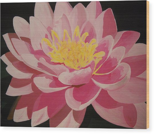 Mama's Lovely Lotus Wood Print