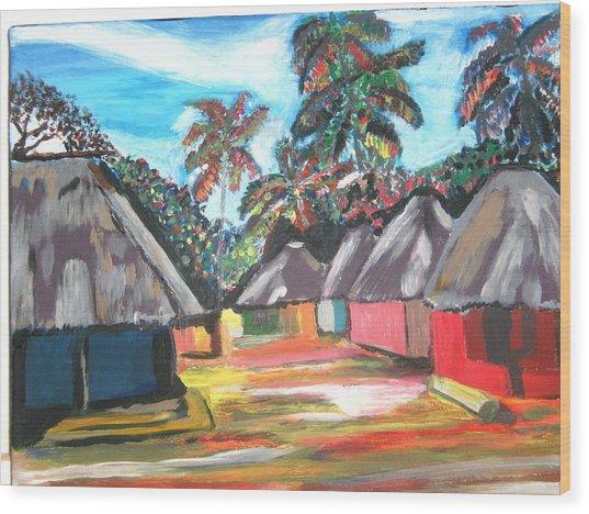 Mamboima The Tamarinds Village Wood Print