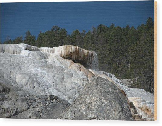 Mammoth Hot Springs 1 Wood Print