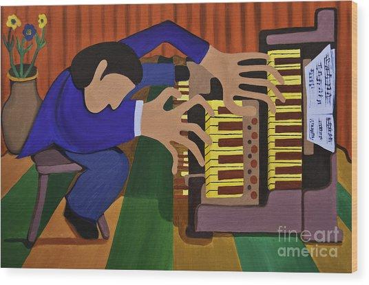 The Organist Wood Print