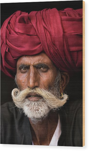 Man From Rajasthan Wood Print