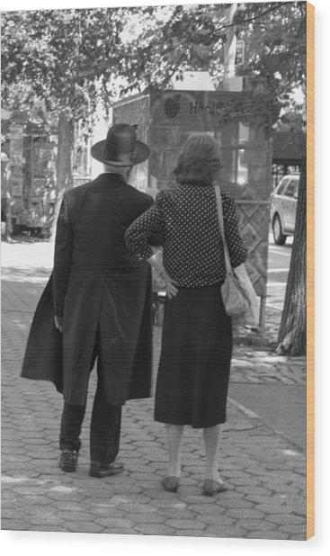 Man Hat And Woman Wood Print