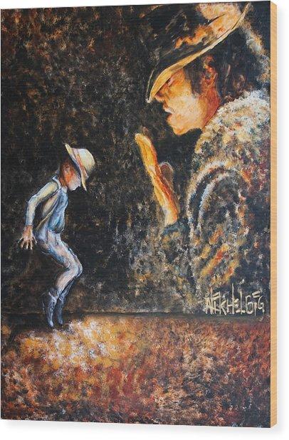 Man In The Mirror Wood Print by Nik Helbig