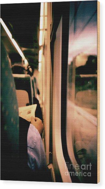 Man On Train - Lomo Lca Xpro Lomographic Analog 35mm Film Wood Print by Edward Olive