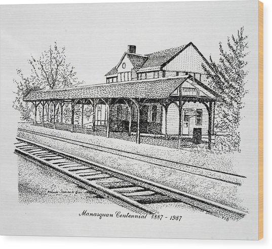 Manasquan Train Station Wood Print