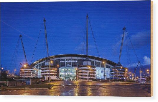 Manchester City Football Club Wood Print