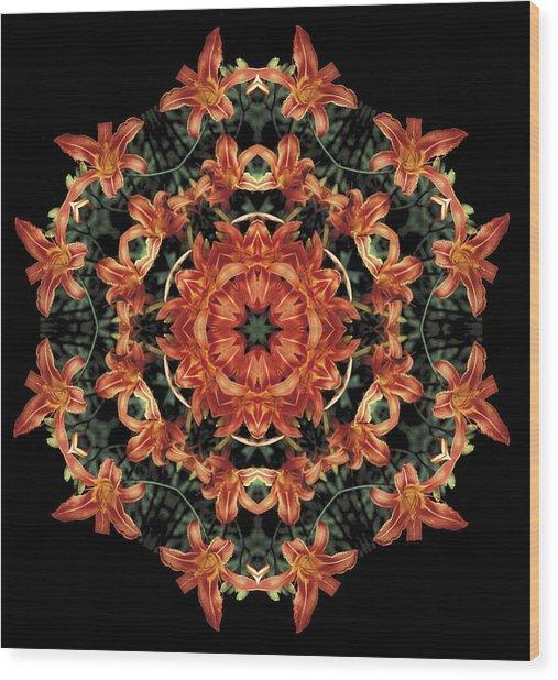 Mandala Daylily Wood Print