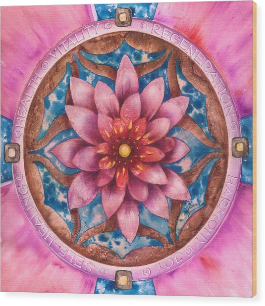 Mandala Of Health Wood Print