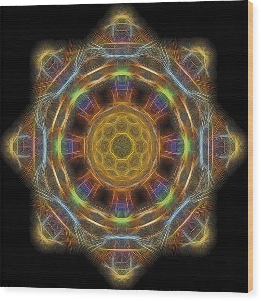 Mandala Of Light 1 Wood Print