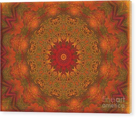 Mandala Of The Rising Sun - Spiritual Art By Giada Rossi Wood Print