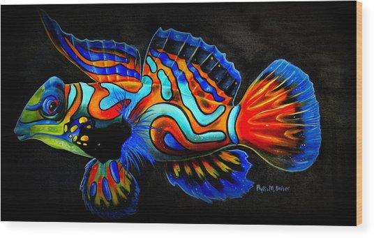 Mandarin Fish Wood Print