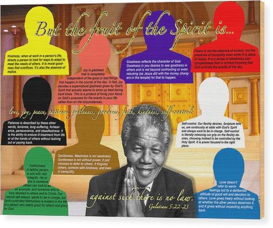 Mandela's Rainbow With Scripture Wood Print