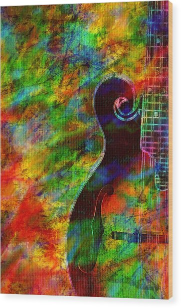 Mandolin Magic Wood Print