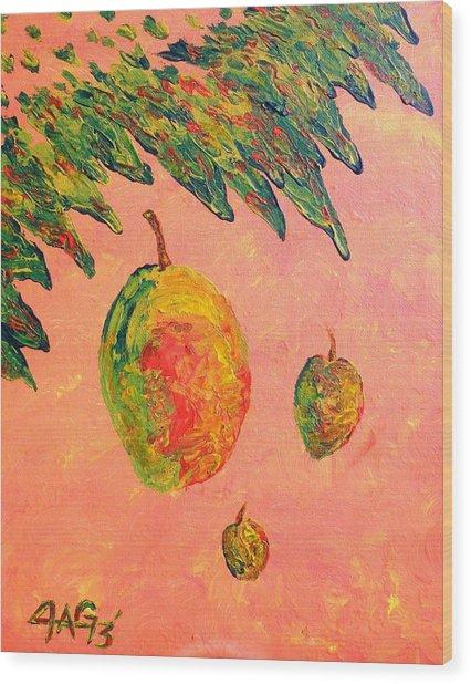 Mango Sky Wood Print
