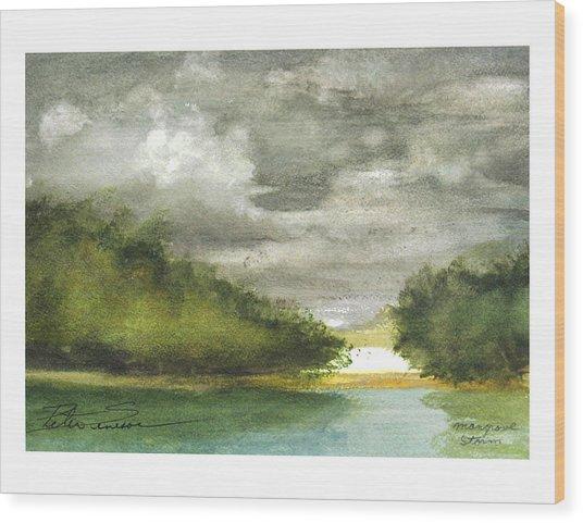 Mangrove Storm Wood Print