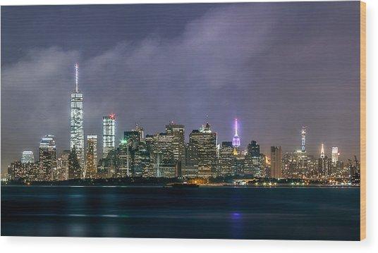 Manhattan Island  Wood Print