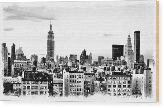 Manhattan  Wood Print by Scott Snizek