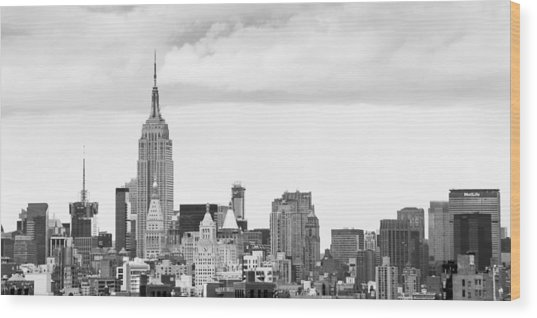 Manhattan Skyline Wood Print