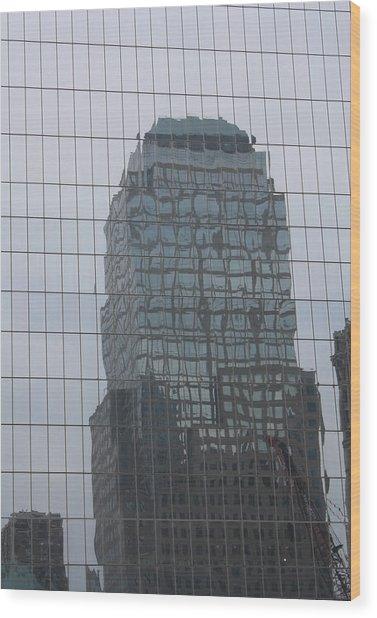 Manhattan Tower Wood Print