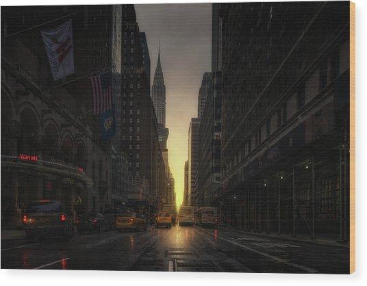 Manhattanhenge Wood Print