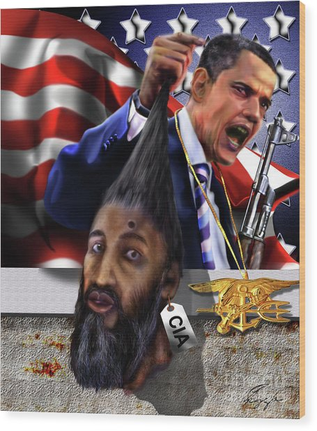 Manifestation Of Frustration - I Am Commander In Chief - Period - On My Watch - Me And My Boys 1-2 Wood Print
