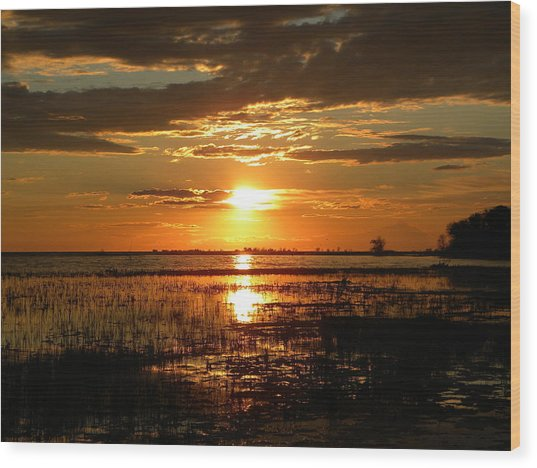 Manitoba Sunset Wood Print