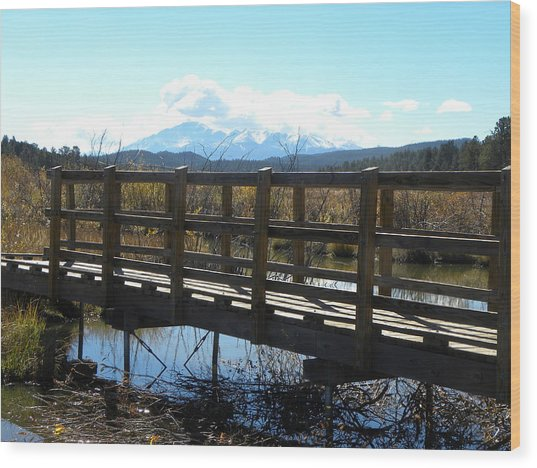 Lake Manitou Sp Woodland Park Co Wood Print