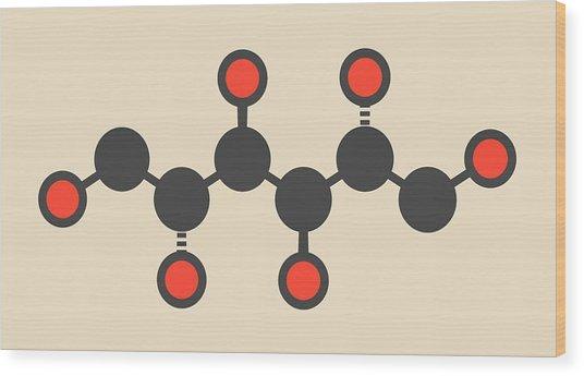 Mannitol Molecule Wood Print by Molekuul