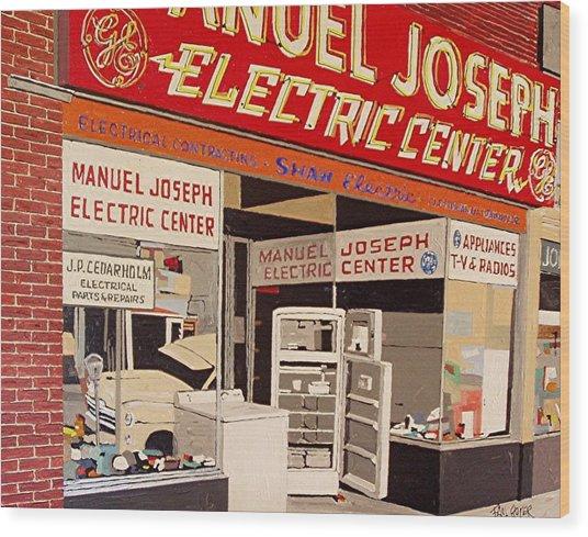Manuel Joseph Wood Print by Paul Guyer