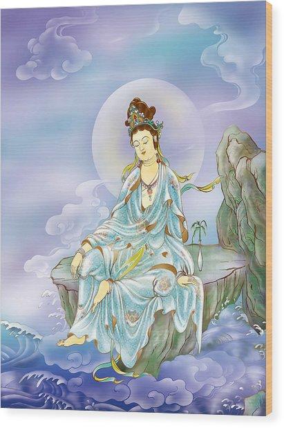 Many Treasures Avalokitesvara  Wood Print