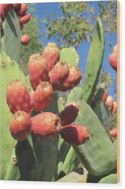 Manzanas Rojas Wood Print