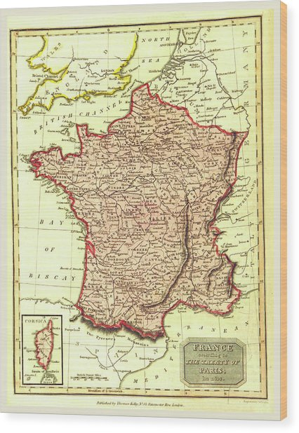 Map Of France According To The Treaty Of Paris In 1814 Drawing By