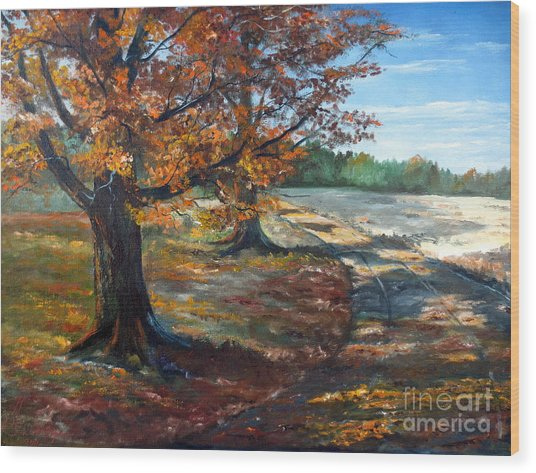 Maple Lane Wood Print