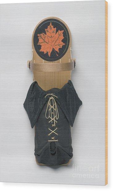 Maple Leaf Cradleboard Wood Print