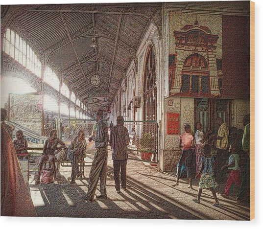 Maputo Railway Station Wood Print
