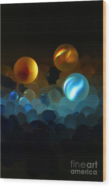 Marble-2 Wood Print by Tad Kanazaki