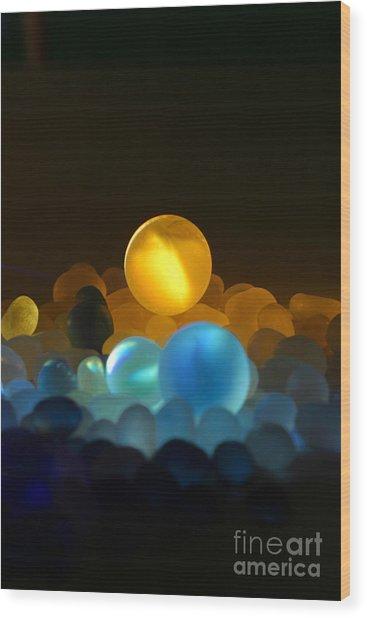 Marble-3 Wood Print by Tad Kanazaki