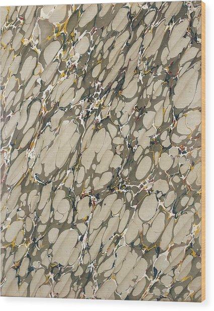 Marble Endpaper Wood Print