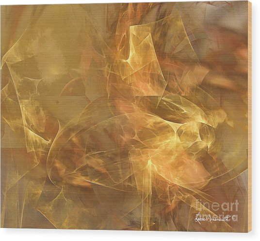 Marble Wood Print by Leona Arsenault