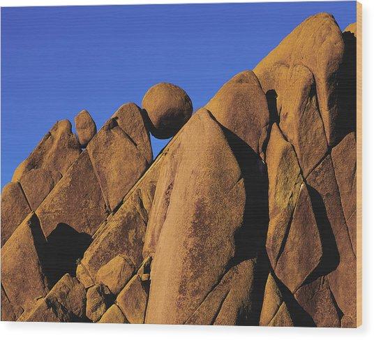 Marble Rock Formation Closeup Wood Print