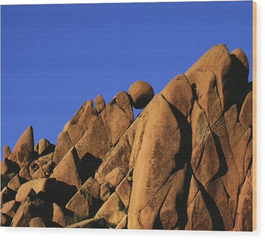 Marble Rock Formation Normal Wood Print